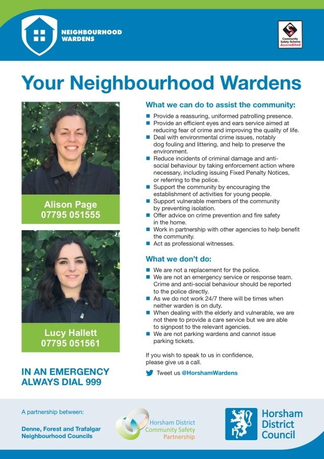 Horsham Wardens poster